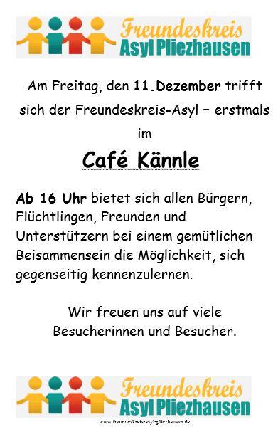 1. Asyl Café … Wir-Café … Name gesucht!